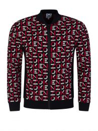 Black Sport Jacquard Monogram Jacket
