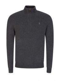 Grey Loryelle Half Zip Jumper