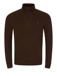 Brown Loryelle Half-Zip Jumper