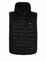 Black Hooded Ousten Gilet