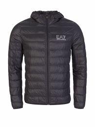 Grey Packable Zip-Through Hooded Jacket
