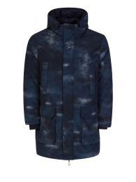 Navy Reversible Long Puffer Coat