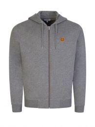 Grey Tiger Crest Zip-Through