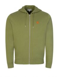 Green Tiger Crest Zip-Through Hoodie