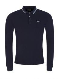 Navy Tipped Collar Polo Shirt