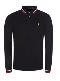 Black Mesh Polo Shirt