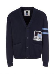 Dark Blue Krussel Knit Cardigan