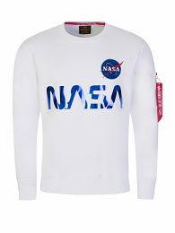 White NASA Reflective Logo Sweatshirt