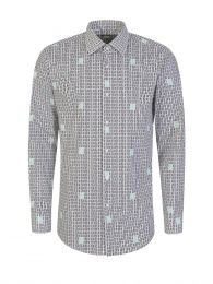 Menswear White Slim-Fit Jango Shirt