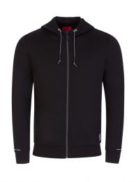 Black Dohn Zip-Through Hoodie