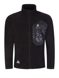 Black Contrast Fleece Zip-Through