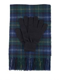 Green Tartan Scarf & Gloves Gift Set