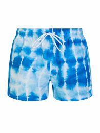 Menswear Blue Tie-Dye Sunfish Swim Shorts