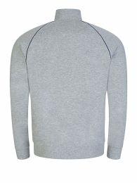 Menswear Grey Mix+Match Zip Funnel-Neck Sweatshirt