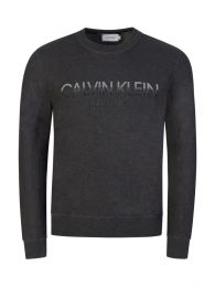 Grey Tone on Tone Logo Sweatshirt