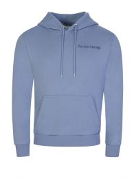 Blue Embroidered Logo Hoodie