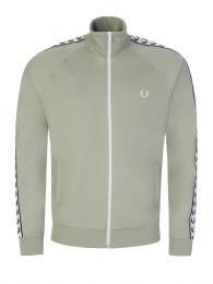 Green Taped Track Zip-Through Jacket