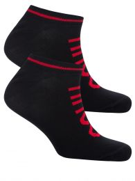 Black 2 Pack Cotton Trainer Socks