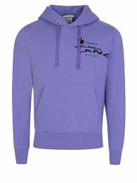Purple Helmut Land Map Graphic Hoodie