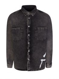 Black Dillon Charred Overshirt