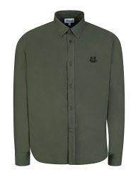 Green Tiger Logo Poplin Shirt
