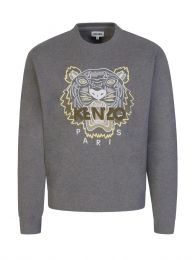 Grey Tiger Head Logo Sweatshirt