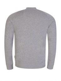 Grey Josef Zip-Through Sweatshirt