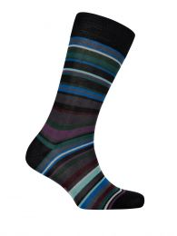 Black Multi Stripe Socks