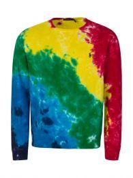 Multicolour Tie-Dye Terry Cotton Sweatshirt