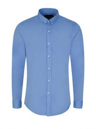 Blue Slim-Fit Featherweight Twill Shirt
