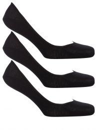 Black No-Show Socks 3-Pack