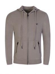 Grey Zip-Through Hoodie