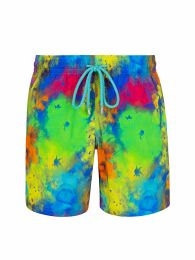 Multicoloured Watercolour Swim Shorts