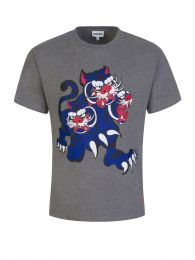x Kansai Yamamoto Grey Three Tigers T-Shirt in Grey