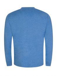Blue Custom Slim-Fit Long-Sleeve T-Shirt