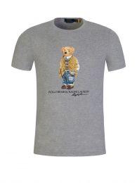 Grey Custom Slim-Fit Polo Bear T-Shirt