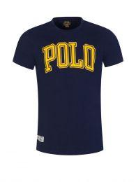 Navy Custom Slim-Fit Polo Logo T-Shirt