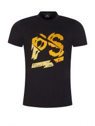 Black Shatter Print T-Shirt