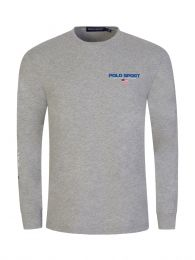 Grey Polo Sport Long-Sleeve T-Shirt