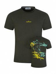 Green Back Print T-Shirt