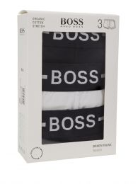 Menswear Black/White Organic Cotton Trunks 3-Pack