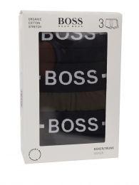 Menswear Black/Green Organic Cotton Trunks 3-Pack