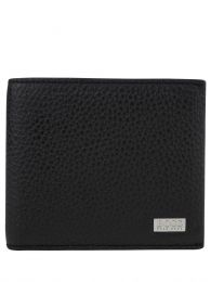 Black Crosstown Billfold Leather Card Wallet
