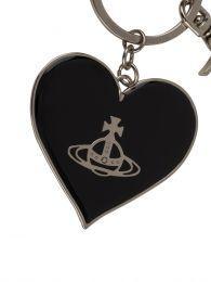 Black Jordan Mirror Heart Orb Keyring