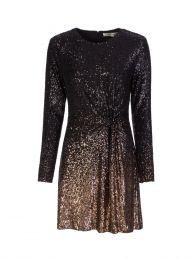 Black Savanna Ombre Mini Dress