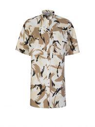 Off White Tropic Camo Shirt Dress