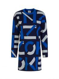 Blue Sport Jacquard Monogram Dress