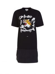 x Kansai Yamamoto Black Roaring Cheetah Dress