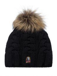 Black Cable Bobble Hat