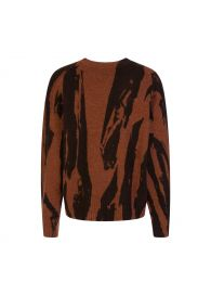 Brown Intarsia Knitted Jumper